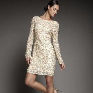 Aidan Mattox | Long Sleeve Sequin Party Dress
